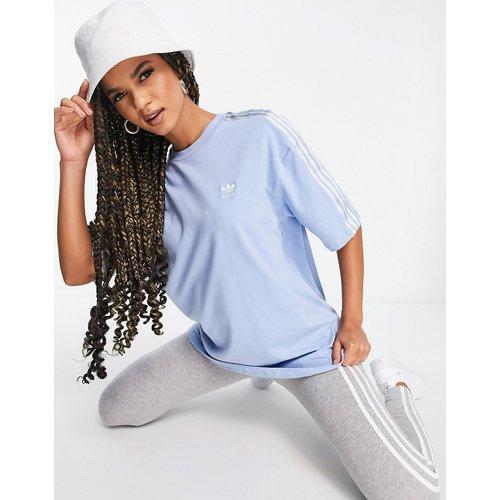Adicolor - T-shirt effet satin à troisbandes - adidas Originals - Modalova