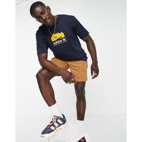 Adventure - T-shirt avec imprimé centré - Bleu - adidas Originals - Modalova