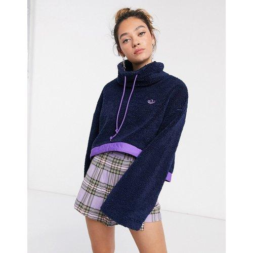 - Bellista- Polaire coupe courte à ourlet contrastant et logo - Bleu marine - adidas Originals - Modalova