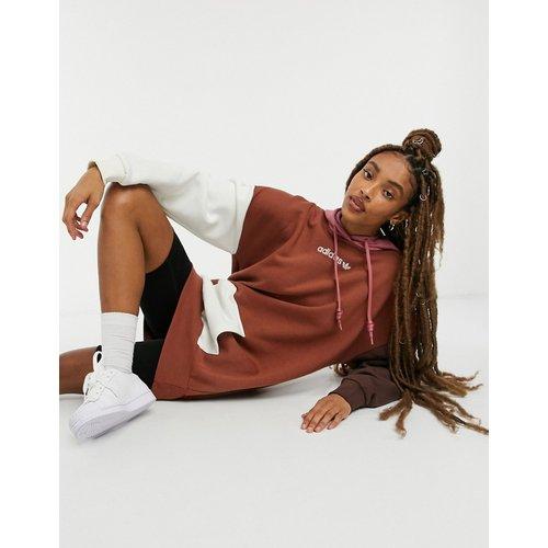Cosy Comfort - Robe à capuche oversize en polaire effet color block - adidas Originals - Modalova