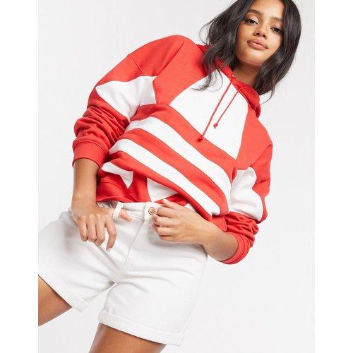 Hoodie avec grand logo - luxuriant et blanc - adidas Originals - Modalova