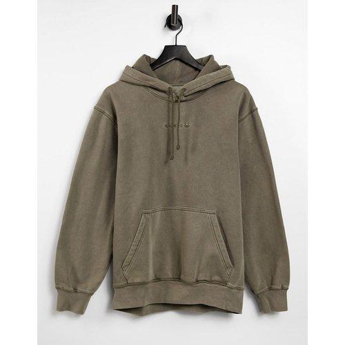 Hoodie surteint de qualité supérieure avec logo brodé - Olive - adidas Originals - Modalova