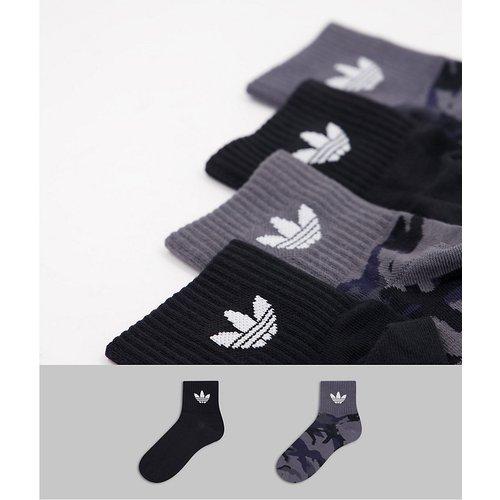 Lot de 2 paires de chaussettes mi-hautes - Camouflage et noir - adidas Originals - Modalova