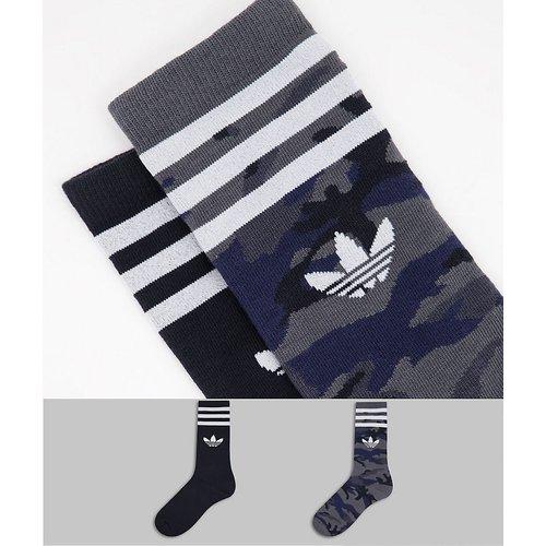 Lot de 2 paires de soquettes - Camouflage et noir - adidas Originals - Modalova