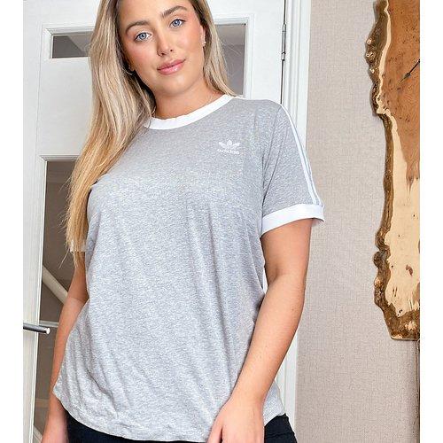 Plus - T-shirt à3 bandes avec bordures contrastantes - adidas Originals - Modalova