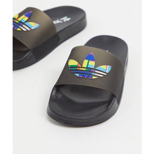 - Pride- Mules à logo trèfle - Noir - adidas Originals - Modalova