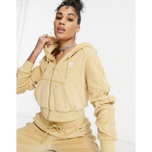 Relaxed Risqué - Hoodie zippé en velours - adidas Originals - Modalova