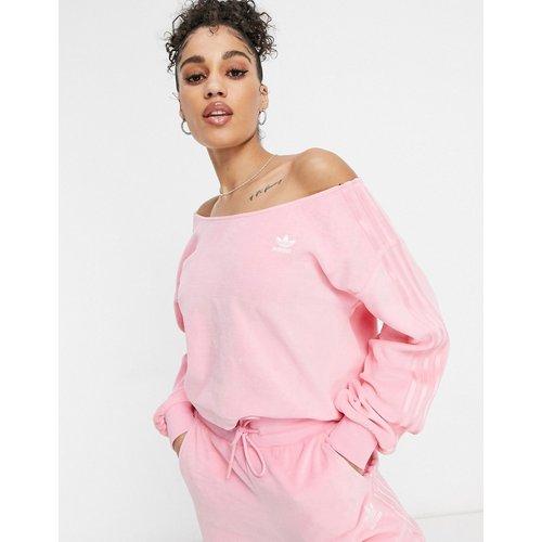 Relaxed Risqué - Sweat-shirt à épaules dénudées en velours - vif - adidas Originals - Modalova