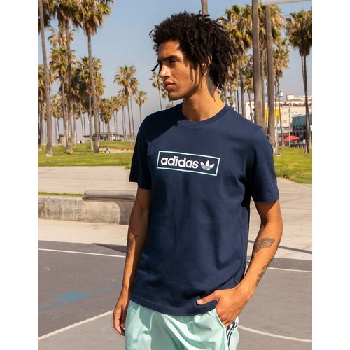 Summer Club - T-shirt oversize à imprimé logo - Bleu - adidas Originals - Modalova