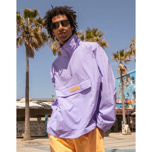 Summer Club - Veste coupe-vent en crépon à col zippé - Lilas - adidas Originals - Modalova
