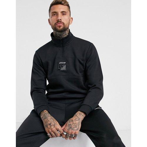Sweat-shirt avec fermeture éclair partielle et logo SPRT - adidas Originals - Modalova