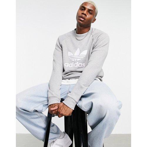 Sweat-shirt avec grand logo trèfle - chiné - adidas Originals - Modalova