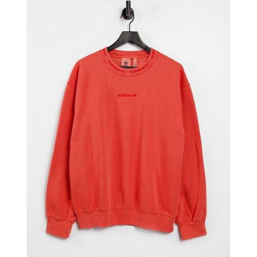 Sweat-shirt côtelé surteint de qualité supérieure avec logo brodé - brûlé - adidas Originals - Modalova