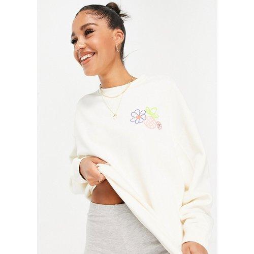 Sweat-shirt non teint à imprimé floral - adidas Originals - Modalova