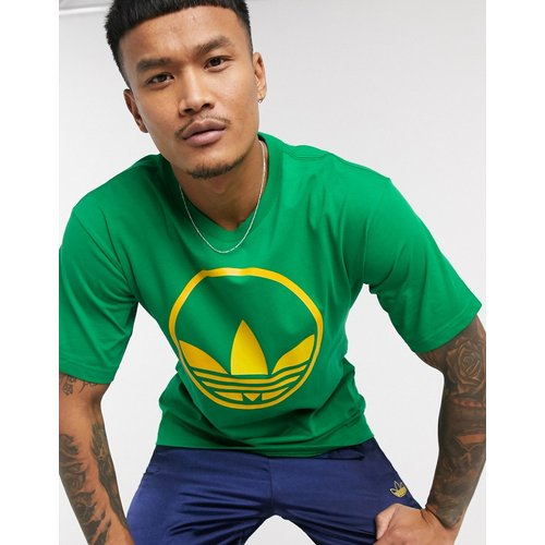 T-shirt à imprimé trèfle circulaire - adidas Originals - Modalova