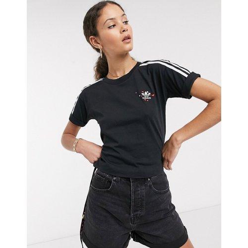 T-shirt motif cœur à trois bandes - adidas Originals - Modalova