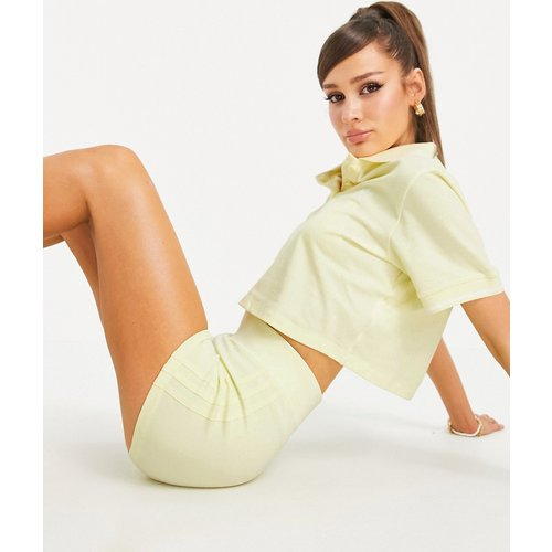 Tennis Luxe - Short sculptant à logo et à trois bandes - délavé - adidas Originals - Modalova