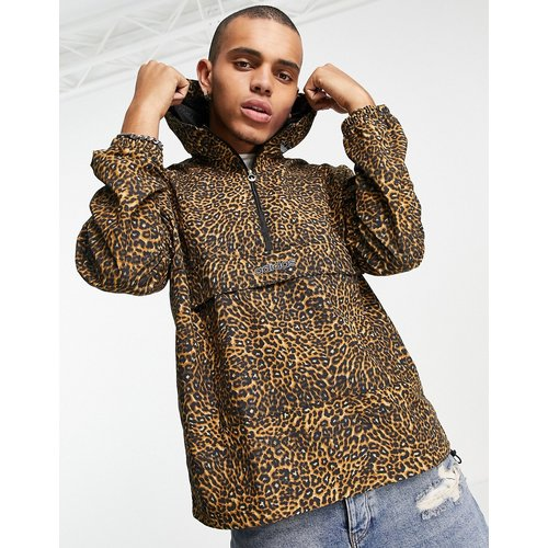 Veste coupe-vent à imprimé léopard - adidas Originals - Modalova