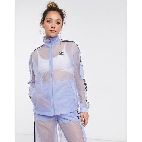 - Veste de survêtement en tulle avec logo - adidas Originals - Modalova