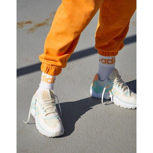 ZX Wavian - Baskets - Blanc cassé avec détails bleus et orange - adidas Originals - Modalova