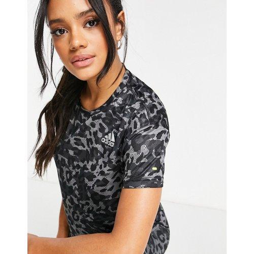 Adidas Running - T-shirt à imprimé léopard - adidas performance - Modalova