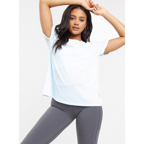 T-shirt manches courtes - Teinte ciel - Adidas - Modalova