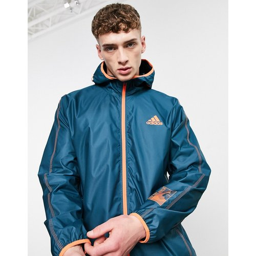 Adidas Training - Sportforia - Veste à capuche et fermeture éclair - Sarcelle - adidas performance - Modalova