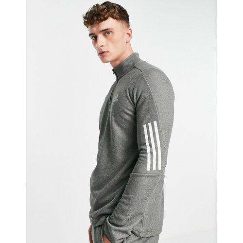 Adidas Training - Sweat-shirt à fermeture éclair partielle et logo 3 bandes - adidas performance - Modalova