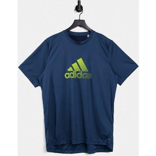 Adidas - Training - T-shirt à logo effet usé - Bleu - adidas performance - Modalova