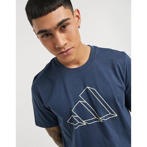 Adidas Training - T-shirt avec contours de logo imprimés sur le devant - Bleu - adidas performance - Modalova