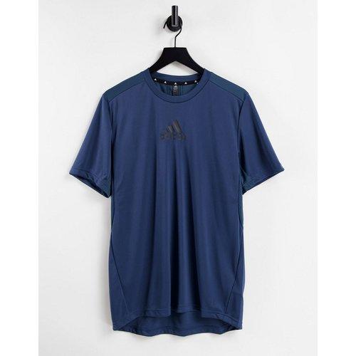 Adidas Training - T-shirt avec logo sur le devant - Bleu - adidas performance - Modalova