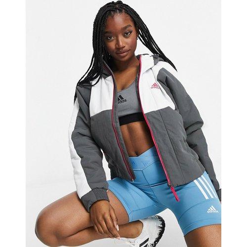 Adidas - Veste à capuche - Gris - Adidas - Modalova