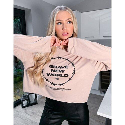 Brave New World - Hoodie confort - Beige - Adolescent Clothing - Modalova