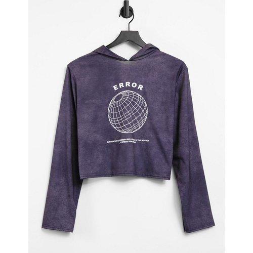 Hoodie confort avec inscription Error - délavé - Adolescent Clothing - Modalova