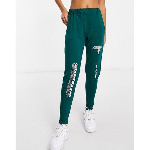 Pantalon confort à imprimé Overworked - Adolescent Clothing - Modalova