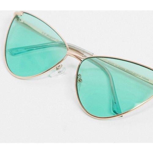 Lunettes de soleil yeux de chat avec verres verts - AJ Morgan - Modalova