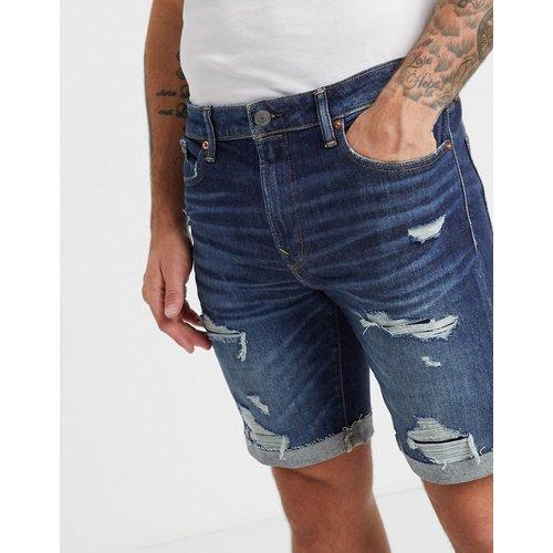 - Short en jean style découpé à effet vieilli et délavagefoncé - American Eagle - Modalova