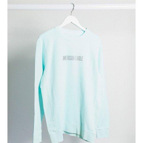 Tall - Sweat-shirt avec logo réfléchissant - délavé - American Eagle - Modalova