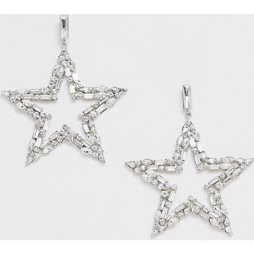 Boucles d'oreilles étoile oversize à strass - Ashiana - Modalova