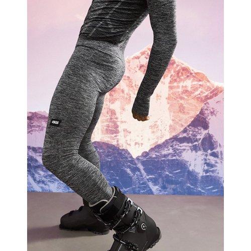 Collants de sous-vêtement chauds sans coutures teints par sections - ASOS 4505 - Modalova