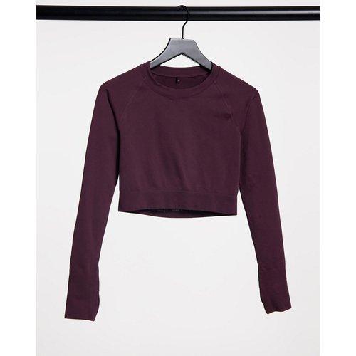 Crop top à manches longues sans couture - ASOS 4505 - Modalova