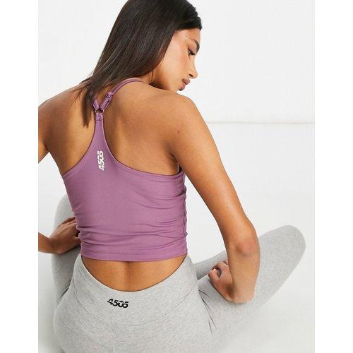 Crop top de yoga style caraco avec soutien-gorge intérieur - ASOS 4505 - Modalova