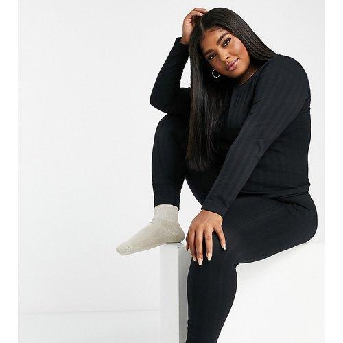 Curve - Legging de sous-vêtement en maille torsadée - ASOS 4505 - Modalova