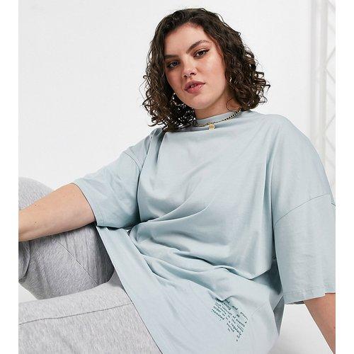 Curve - T-shirt oversize imprimé - ASOS 4505 - Modalova