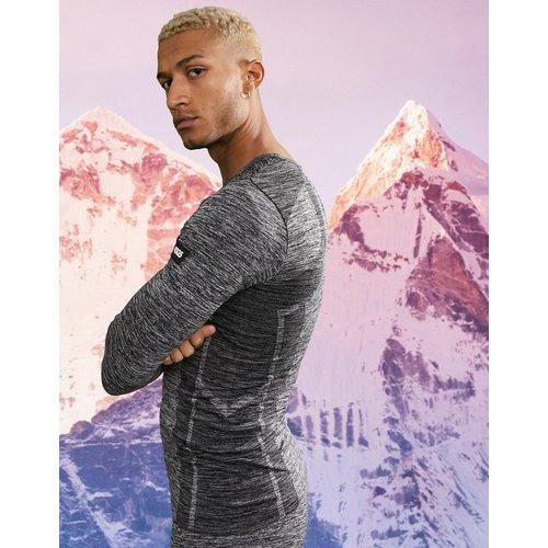 Haut de sous-vêtement chaud sans coutures teint par sections - ASOS 4505 - Modalova