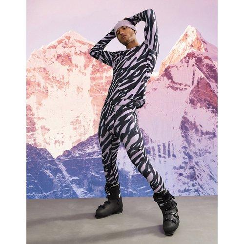 Legging de sous-vêtement chaud à imprimé animal - ASOS 4505 - Modalova