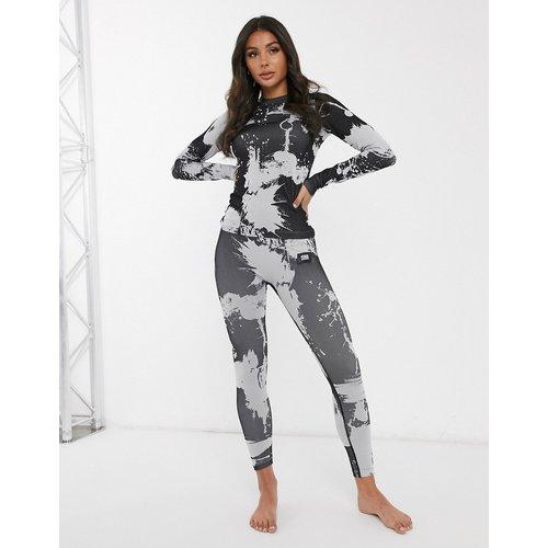 Legging de sous-vêtement de ski à imprimé éclaboussures - Monochrome - ASOS 4505 - Modalova