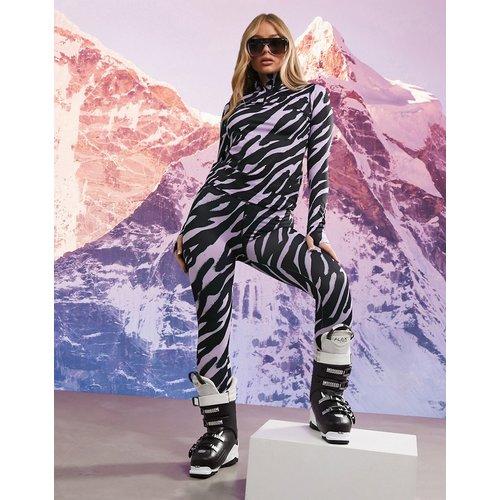 Legging de sous-vêtement à imprimé animal - Rose - ASOS 4505 - Modalova