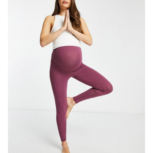 Maternity - Legging aspect coton avec emblème - ASOS 4505 - Modalova