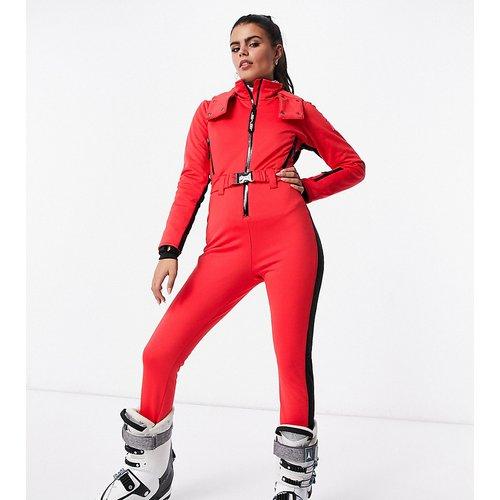 Petite - Combinaison de ski ajustée à capuche, ceinture et bande latérale - ASOS 4505 - Modalova